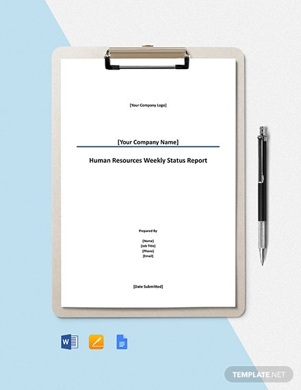 HR Weekly Status Report Template