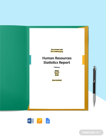 HR Statistics Report Template