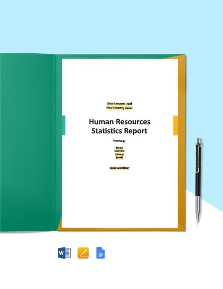 HR Statistics Report Template