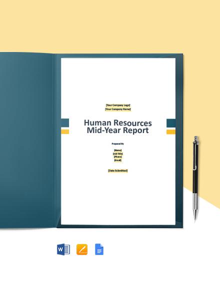 HR Board Report Template