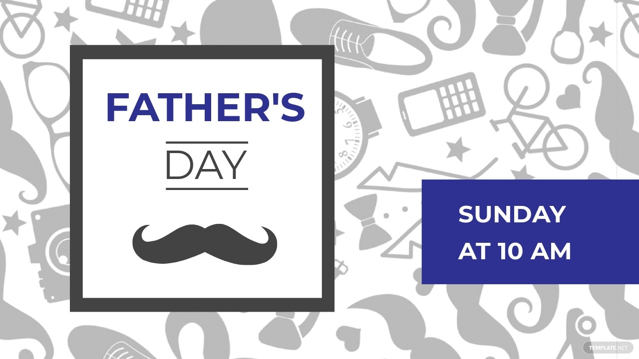 Father's Day YouTube Video Thumbnail Template