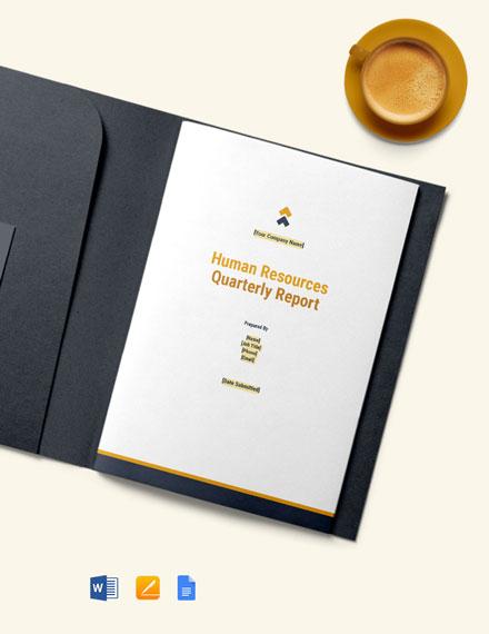 Free HR Quarterly Report Template