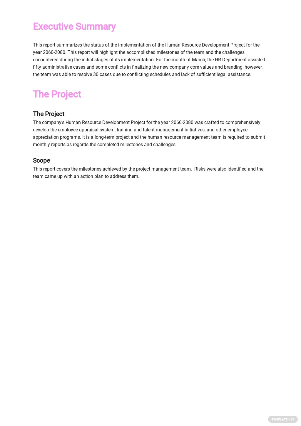Free HR Monthly Report Template 1.jpe