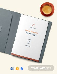 Free HR Monthly Report Template