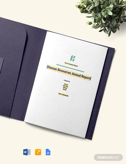 Free HR Annual Report Template