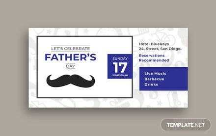 Free Father's Day LinkedIn Company Cover