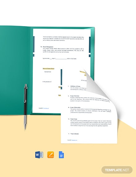 Free Sample Residential Construction Scope of Work Template