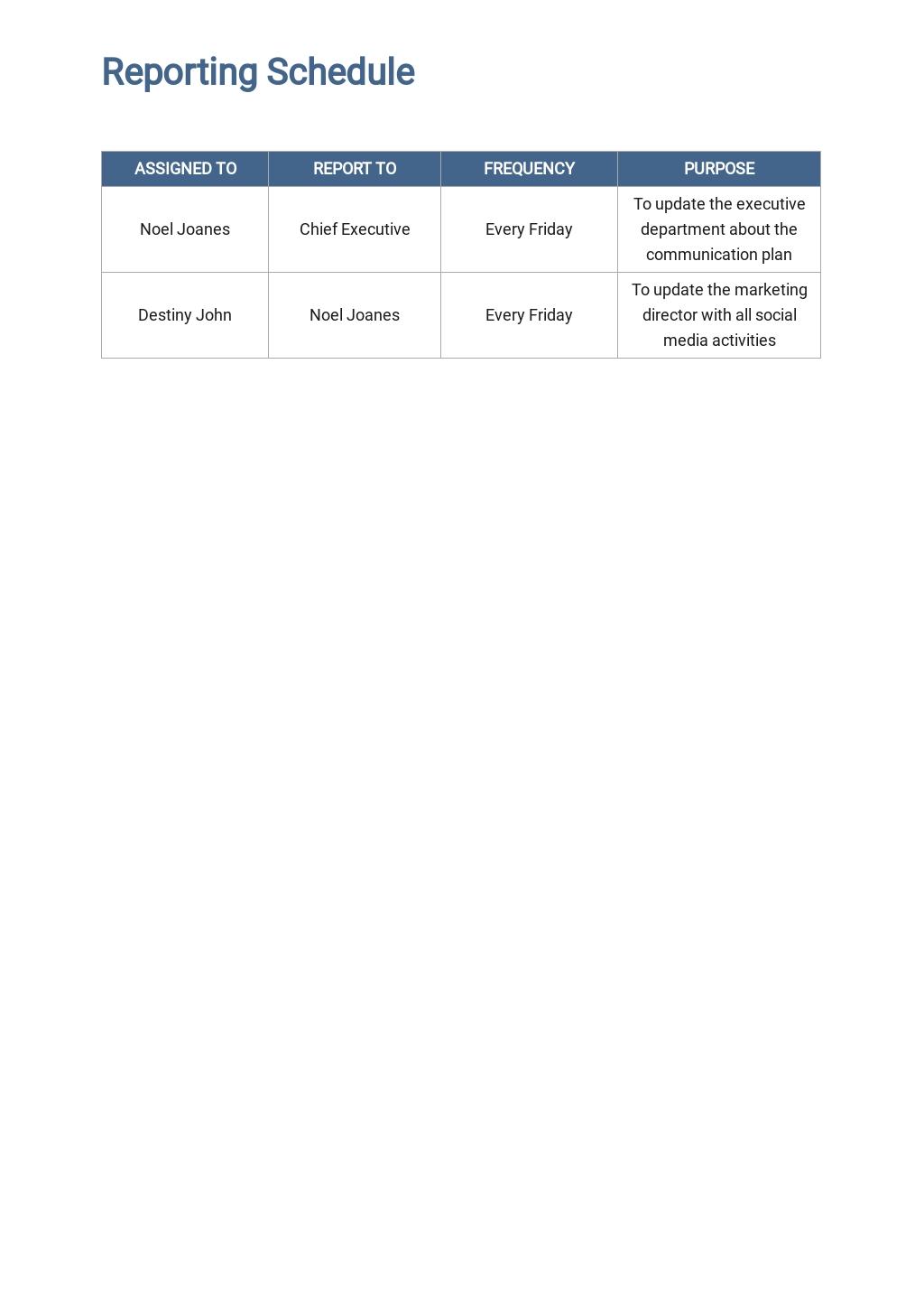 Free HR Communication Plan Template 4.jpe