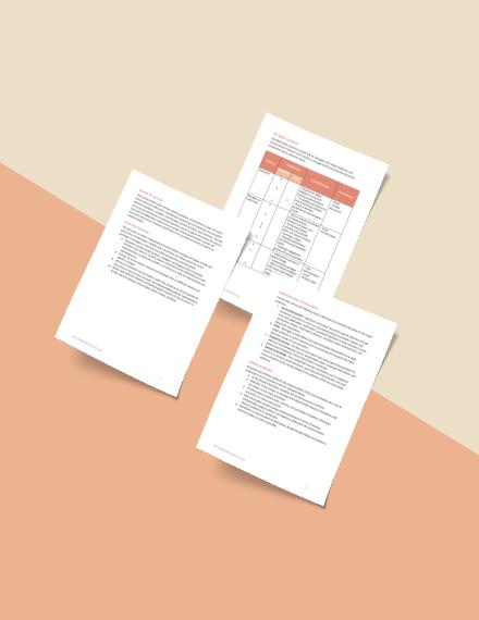 Free HR Communication Plan Format