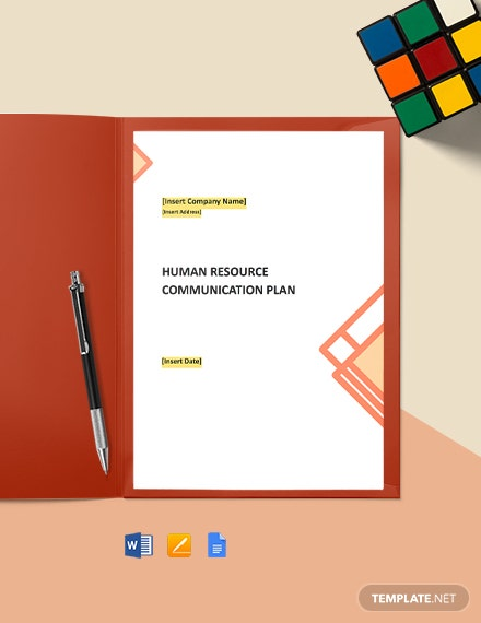 Free HR Communication Plan Template