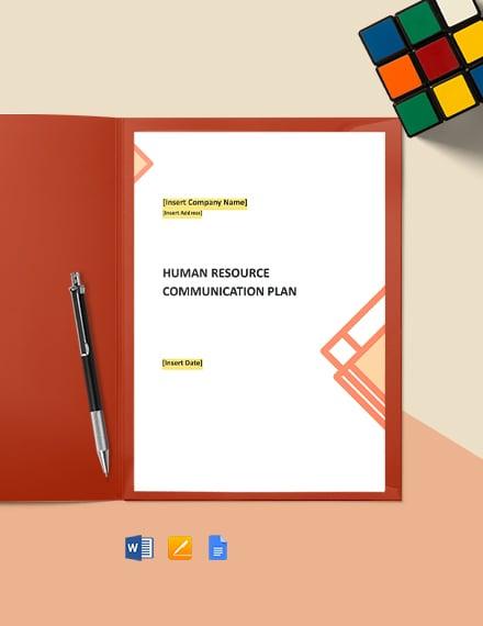 Free HR Communication Plan