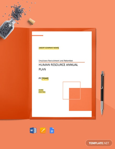 HR Annual Plan Template