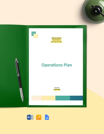 Operations Plan
