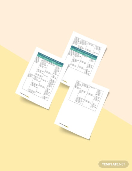 Sample Operations Plan Template