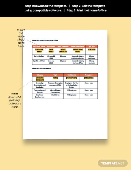 Free Training and Development Plan Download
