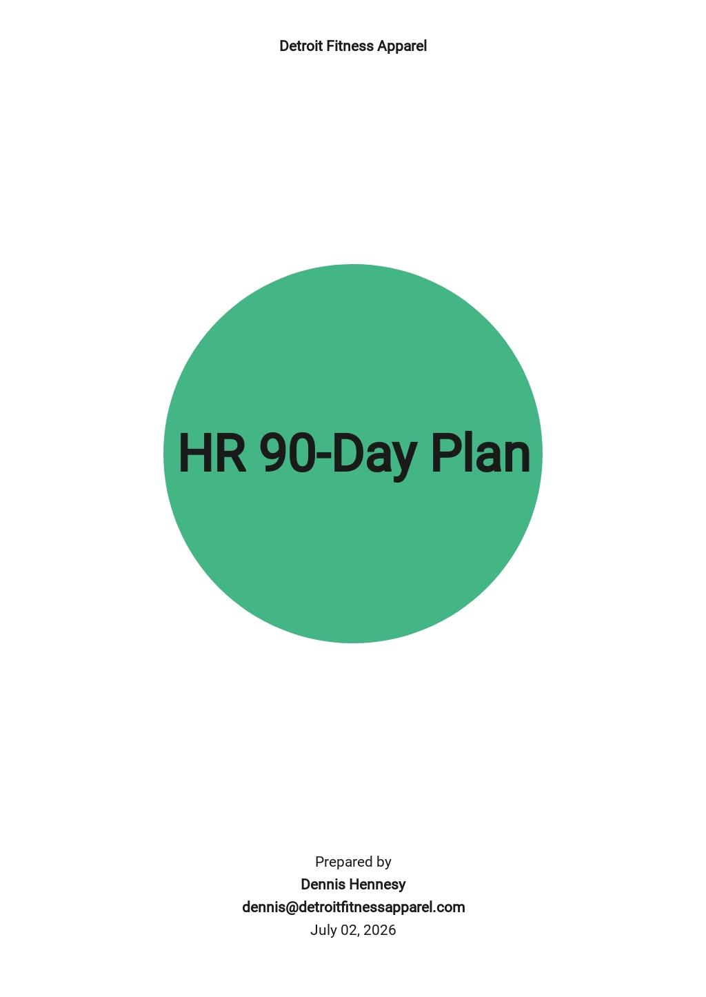 HR 90-Day Plan Template