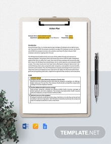 HR Action Plan Template