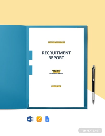 HR Recruitment Report Template