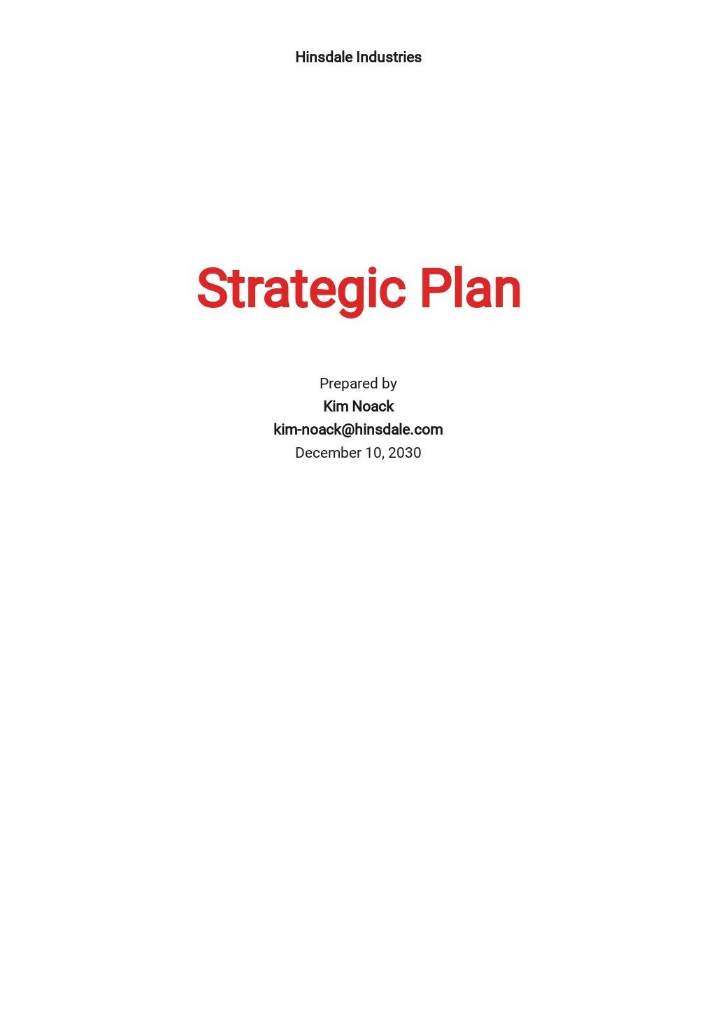 HR Strategy Plan Template