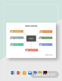 Simple Product Mind Map Template