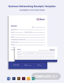 Business Networking Receipts Template