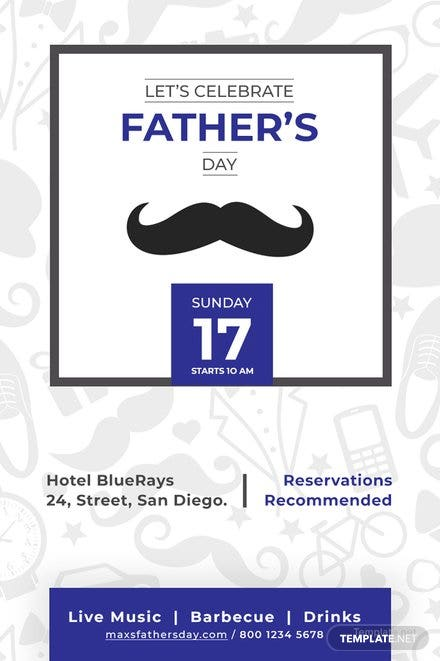 Free Father's Day Pinterest Pin Template