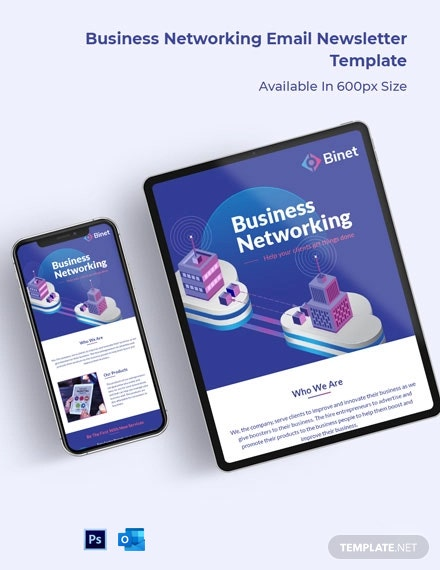 Business Networking Email Newsletter Template