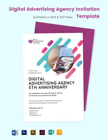 Digital Advertising Agency Invitation Template