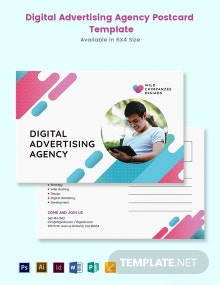 Digital Advertising Agency Postcard Template