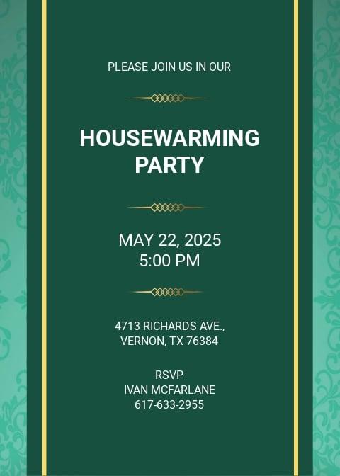 Free Printable Housewarming Party Invitation Template