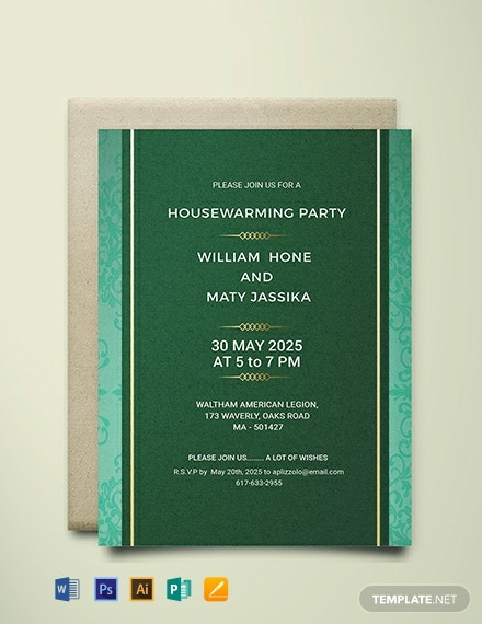 Free Printable Housewarming Party Invitation Template