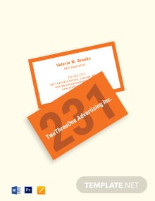 Digital Advertising Agency Business Card Template