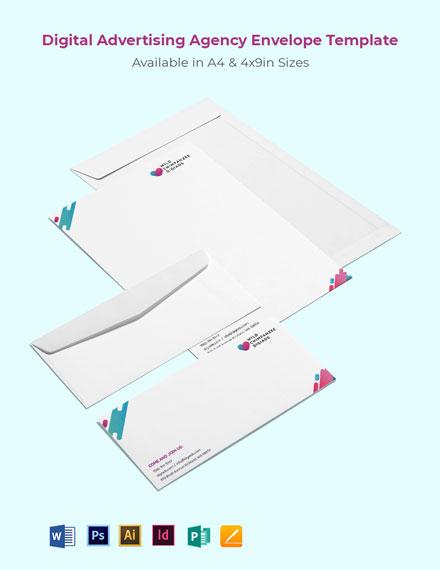 Digital Advertising Agency Envelope Template
