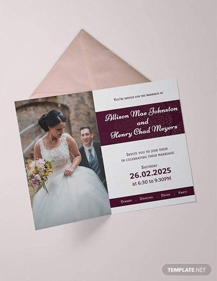 Free Ornamental Wedding Invitation Template
