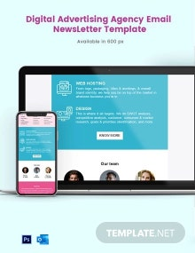 Digital Advertising Agency Email Newsletter Template