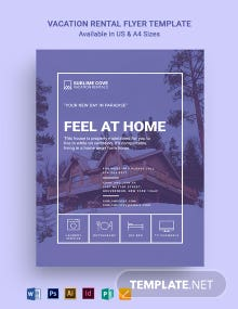 Modern Vacation Rental Flyer Template