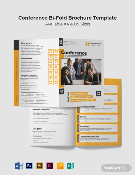Sample Conference Bi-Fold Brochure Template