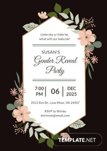 Free Gender Reveal Party Invitation