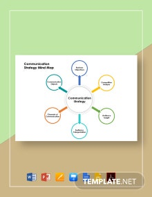 Communication Strategy Mind Map Template
