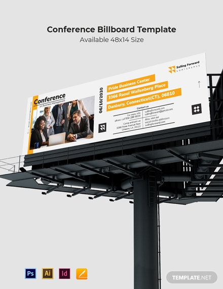Sample Conference Billboard Template