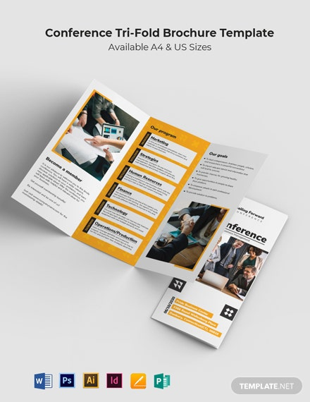 Sample Conference Tri-Fold Brochure Template