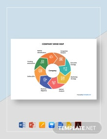 Free Sample  Company Mind Map Template