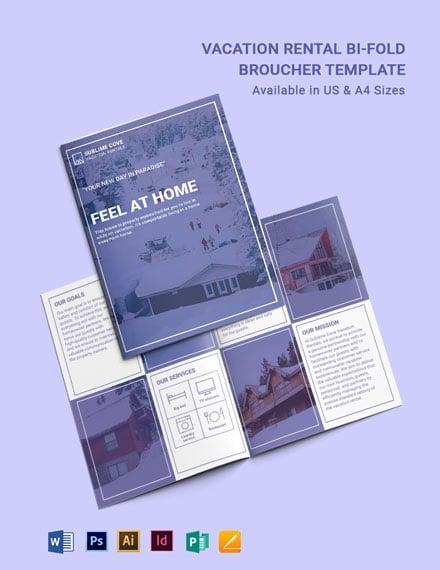 Modern Vacation Rental BiFold Brochure