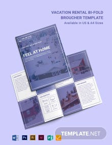 Modern Vacation Rental Bi-Fold Brochure Template