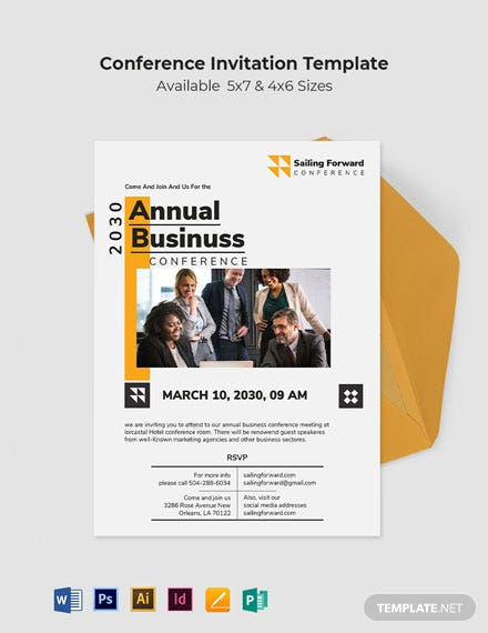 Sample Conference Invitation Template