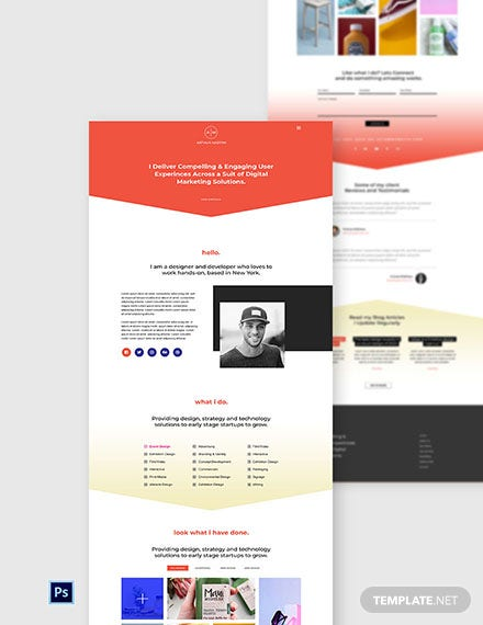 Free Production Design Agency Website Template