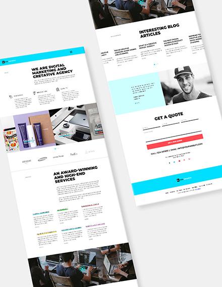 Web Design Agency Website Format