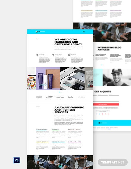 Free Web Design Agency Website Template