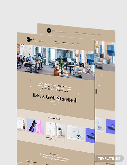 Design Agency Website Format