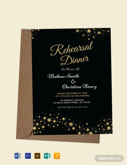 FREE Wedding Rehearsal Dinner Invitation Template Download 953